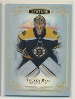 2019-20 UD Stature 46 Tuukka Rask Boston Bruins