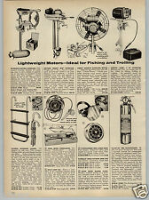 1961 PAPER AD Airboy Airdrive Outboard Motor Ice Fishing Fan Air Boat Neptune