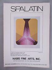 Marko Spalatin Lithographic Prints PRINT AD - 1973