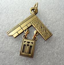 Mason Freemason Jewel Pendant Masonic Ornate Square #375