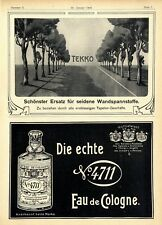 Assim Cigaretten Tekko Wandspannstoffe 4711 Eau de Cologne Histor. Annoncen 1904