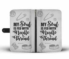 Sewing & Quilting Phone Wallet Case, Gift Idea iPhone Samsung LG Huawei Xiaomi