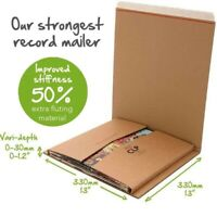 80 x Lil® Amazon style B2 variable capacity rigid CLP vinyl record Book mailers