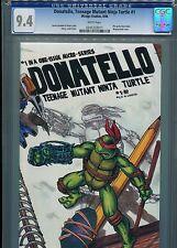 Donatello,Teenage Mutant Ninja Turtle #1  CGC 9.4 WP  Wraparound cover
