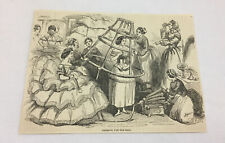 1857 magazine engraving ~ DRESSING FOR THE BALL