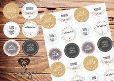 """48 Geschenk Aufkleber """"Handmade"""" """"Selbst gemacht"""" Sticker Etiketten Gastgeschenk"""