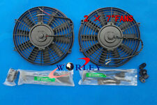 2 sets 7 inch 12V Slim Radiator Cooling Thermo Electric Fan & Mounting kit