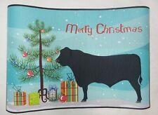"""Caroline's Treasures BB9195JMAT Angus Cow Christmas Indoor Outdoor Mat 24 x 36"""""""