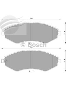 Bosch Brake Pad Front Set Daewoo Lanos Se,Sx. Cielo Espero Nubira Sx (DB1347BL)