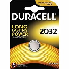 5x Pile Bouton Duracell CR2032 Batterie Lithium 3V