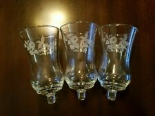 3 Homco 1180 Di Hummingbird Etched/Embossed Peg Votive Candle Holders