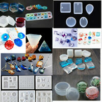 Geometry Silicone Mold Resin Jewelry Making Mould Epoxy Pendant Craft DIY Tools