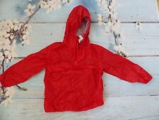 New Next Cagoule//Cag in a Bag Red Lightweight Hooded Coat Jacket 7yrs HW