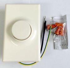 VIRIBRIGHT Push ON/OFF Switch Rotary Light Dimmer Universal LED Dimmer IVORY