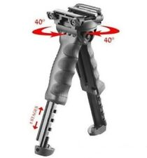 Black Rotating Fore Grip Bipod T-POD Defense Tactical Vertical Hunting Foregrip