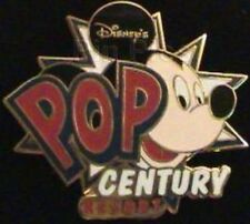 Retired AUTHENTIC Mickey Mouse Pop Century Resort Hotel Logo WDW Walt Disney Pin