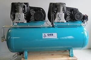 GIEB Kompressor für Werkstatt und Industrie  2x750/500-11