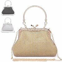 Ladies Diamante Cocktail Party Clutch Bag Bridal Purse Grab Bag Handbag MA35044