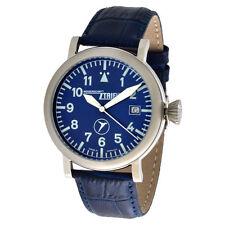 Polierte Armbanduhren aus echtem Leder mit 12-Stunden-Zifferblatt für Unisex