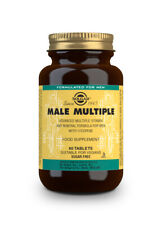 Solgar Male Multiple Multi-Vitamin & Mineral Pack of 120 Tablets