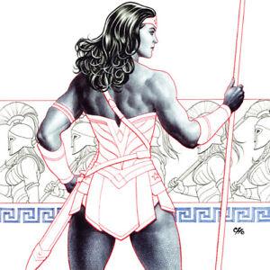 WONDER WOMAN Signed ART PRINT #5 Variant Cover FRANK CHO Rebirth DC UNIVERSE New