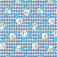 Joey the Shop Dog: Happy Joey Blue Cotton Fabric