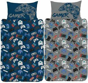 Gamer Single Duvet Cover Gaming Controller Design Boys Teens Reversible Bed Set
