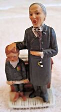 "N. Rockwell inspired ceramic figurine ""First in His Class"" with S.E.P 6-26-1926"
