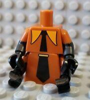 Lego New Black Minifigure Torso Female Gamer Proframmer 4 Rows White Binary Code