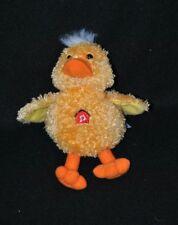 Peluche doudou canard poussin jaune GIPSY jaune orange 16 cm TTBE