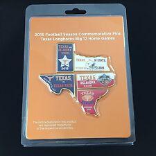 Texas Longhorns Football 2015 Commemorative Pins Set Big 12 Home Games
