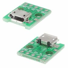 2 x USB Micro Female Socket  Breakout Board 2.54mm Pitch Adapter Connector DIP