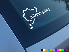 NURBURGRING CAR STICKER FUNNY NEVER BEEN NEVERBEEN JDM DUB DECAL RING LICK MY VW
