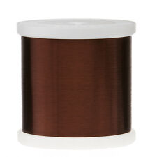 "43 AWG Gauge Plain Enamel Copper Magnet Wire 5.0 lbs 0.0024"" 105C Brown MW-1-C"