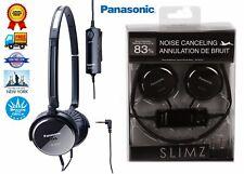 Genuine Panasonic Slimz Noise Cancelling Black Stereo Headphones RP-HC101 Black
