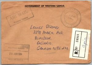 GP GOLDPATH: SAMOA COVER 1984 REGISTERED LETTER AIR MAIL _CV556_P16