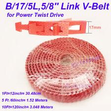 New Adjustable Link V Belt B175l58 Power Twist Drive For Cnc Motor 1ft 10ft