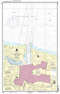 NOAA Chart Little Creek Naval Amphibious Base 17th Edition 12255