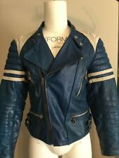 Vintage leather jacket punk moto cafe style