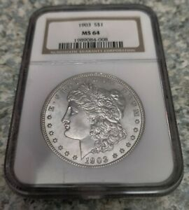 1903 P Morgan Silver Dollar, NGC MS 64, Scarce Mint