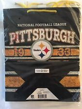 Pittsburgh Steelers Hallmark Set of 8 Gift Bags W/ String Handle 12 x 14 in. NEW