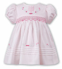 NWT Sarah Louise Baby Girls Pink Smocked Dress 6 Months Boutique Heart Smocking