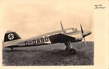 Real Photo Postcard Ago 192 Der Kurier WWII German Nazi Airplane~114995