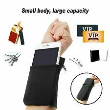 Wrist Wallet Arm Fleece Sport Pouch Band ZIPPER Running Travel Gym Money ID Card