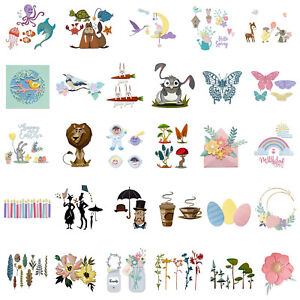 Animal Flower Tree Person Metal Cutting Dies Stencil for Diy Embossing Cards