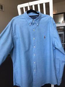 Ralph Lauren Men Light Blue Oxford Slim Fit Shirt