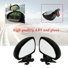 2× left+right Car Blind Spot Mirror Rotation Rear View Mirror Wide Angle Lens