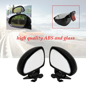 Pair Left+Right Car Blind Spot Mirror Rotation Rear View Mirror Wide Angle Lens