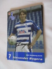 77655 Alexander BUGERA 05-06 MSV Duisburg originale con firma autografo cartolina