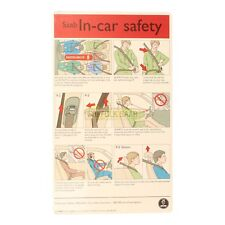 SAAB 93 9-3 95 9-5 98-05MY IN CAR SAFETY GUIDE CARD OWNERS MANUAL 423392 RARE